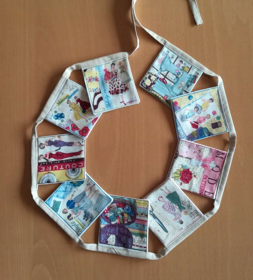 Sewing pattern bunting 1