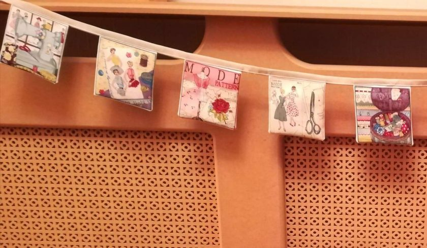 Sewing pattern bunting 2