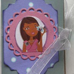 Girly Lip Balm (Chapstick) Holder Card