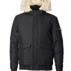 Mens warm winter bomber jacket -- Silver Birch Explorer