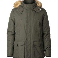 Mens warm parka winter heavy padded jacket -- Silver Birch Journey Man
