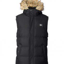 Mens warm winter gilet / bodywarmer waistcoat with hood -- Silver Birch Himalaya