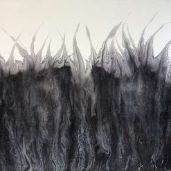 Black frost painting
