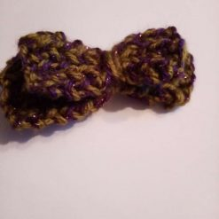 Knitted Double Bow Hair Clip