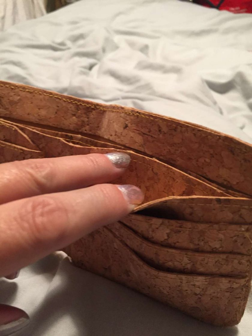 Sale : 1 only cork  leather wallets 4
