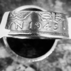 Handcrafted Ring from genuine Two Shilling coin 1949 Size V