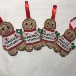 Gingerbread Christmas Kisses - Christmas Ornament