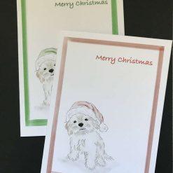 Dog - Cavapoo puppy Christmas card