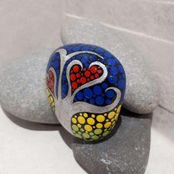 Hand painted tree of life pebble 'Summer' 5