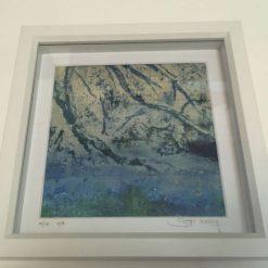 'Waters Edge' - Original collagraph framed print (4) / free p.p