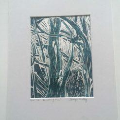 'branching out' lino print (9) / free p.p