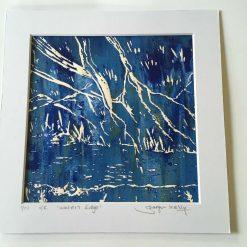 'waters edge' - Original screen print (2) / free p.p