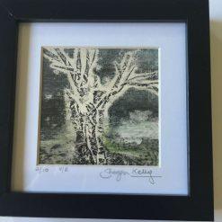 'Silent Night' - Original collagraph framed print (2) / free p.p