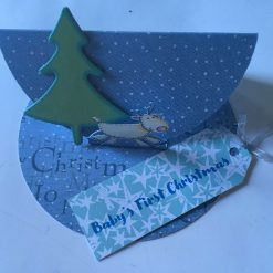 Hand made 3d Christmas Card - Baby's First Christmas SOLD