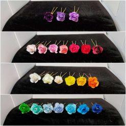Wedding rose hair pins set of 10