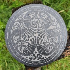 Celtic Crow Slate Coaster