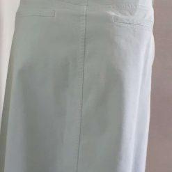 Ladies blue corduroy skirt with flower & butterfly motifs & blue trim, size 16 5