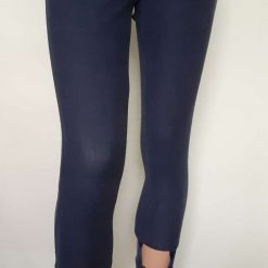 Ladies blue jeggings with cut-outs & pink lace trim, size 12 4