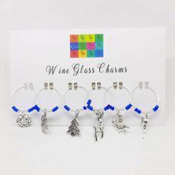 Christmas Theme Wine Glass Charms