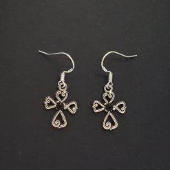 Earrings, Filigree Cross - Choice of Ball Studs or Wire Hooks 9