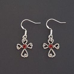 Earrings, Filigree Cross - Choice of Ball Studs or Wire Hooks 8