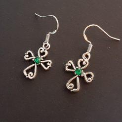 Earrings, Filigree Cross - Choice of Ball Studs or Wire Hooks 6