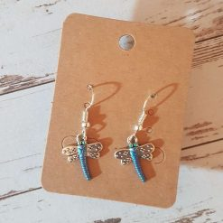 'Insect' Dragonfly Earrings   Tibetan Silver Charm Birthday Christmas Mothers Mother's Day Valentine Anniversary Easter Jewellery Gifts Dragonflies Gift Ideas