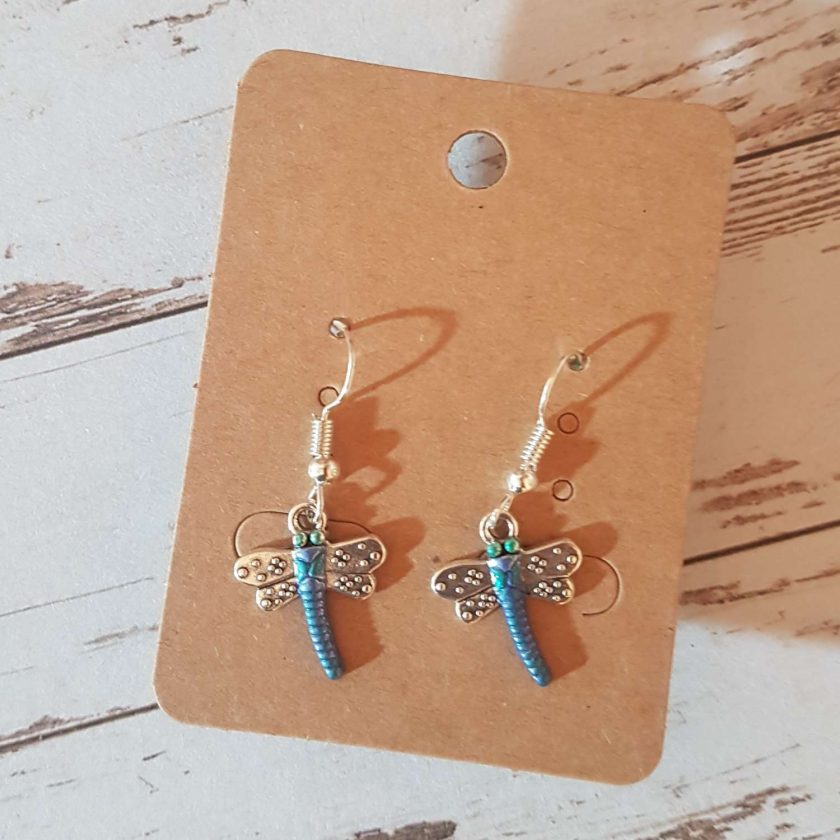 -Dragonfly Earrings - Choice of Ball Stud or Dangle 1