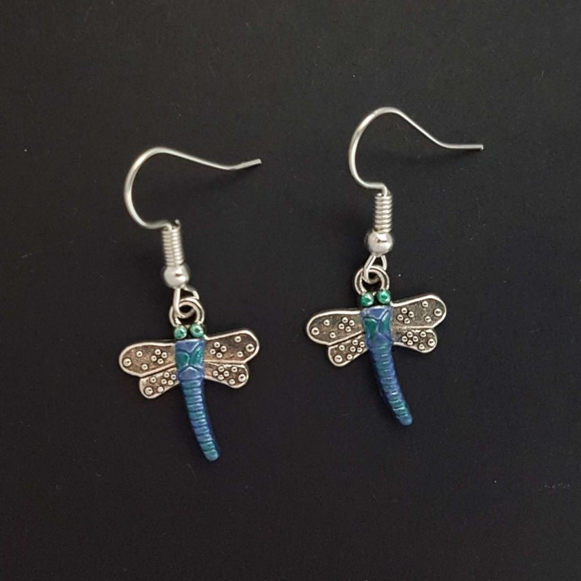 -Dragonfly Earrings - Choice of Ball Stud or Dangle 3