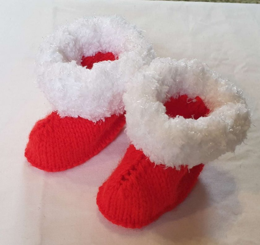 Christmas bootees 6mths+ 3
