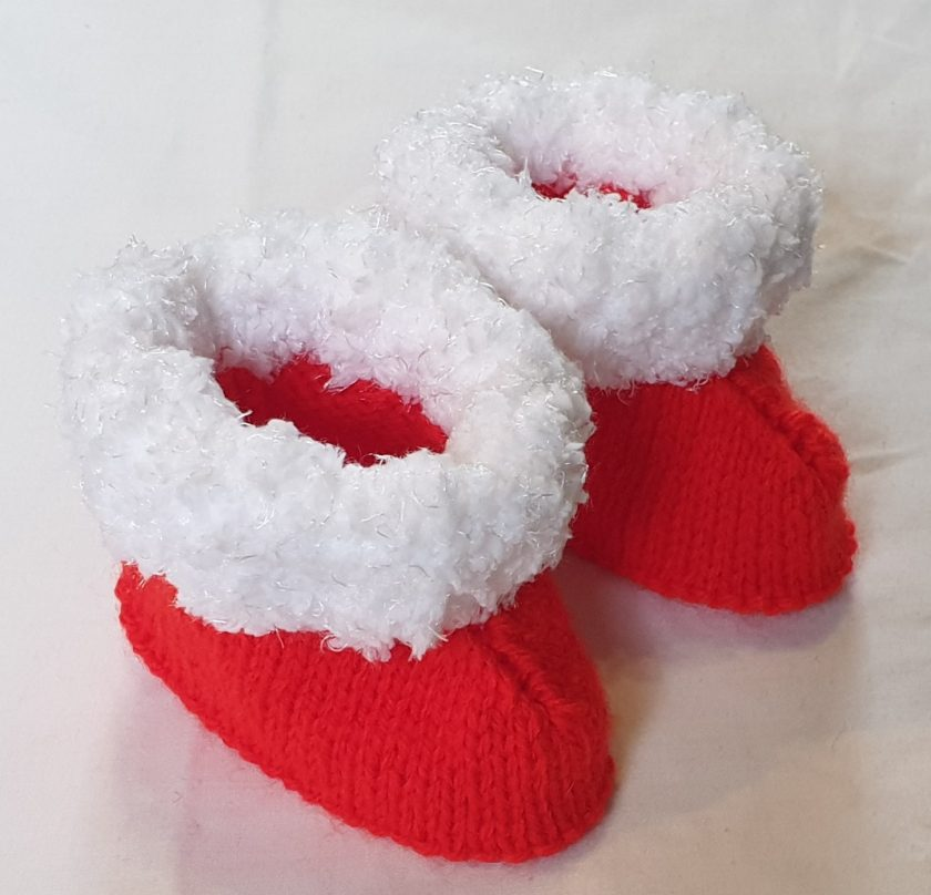 Christmas bootees 6mths+ 1