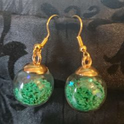 Glass Christmas bauble earrings 7