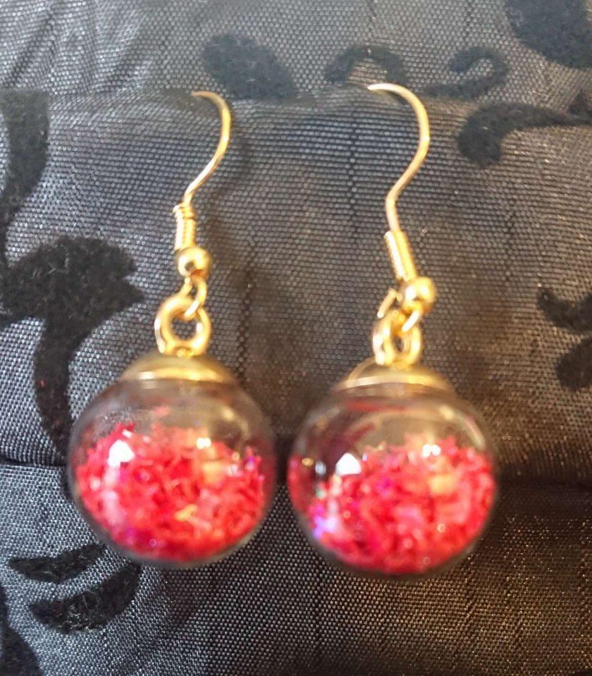 Glass Christmas bauble earrings 4