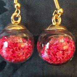 Glass Christmas bauble earrings 9