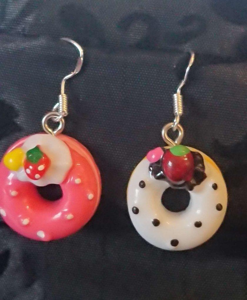 Doughnut earrings multi 1