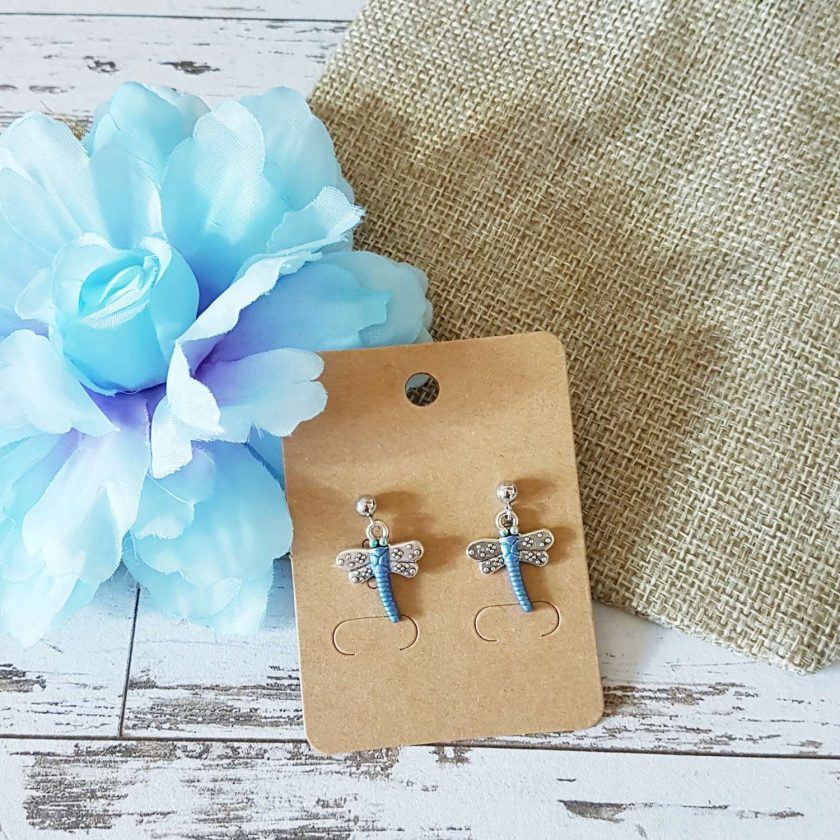 -Dragonfly Earrings - Choice of Ball Stud or Dangle 2