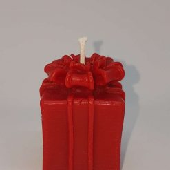 3  Beeswax Christmas present candles