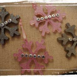 Personalised snowflake decoration