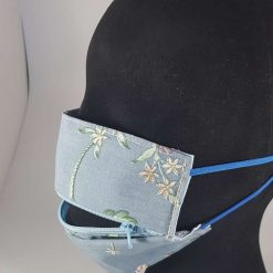 Bedrock Creations - Face Mask with Zip Pale Blue