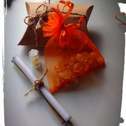 Crystal healing pouch gift set
