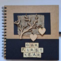 First Anniversary Scrapbook