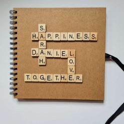 Personalised Scrabble Scrapbook