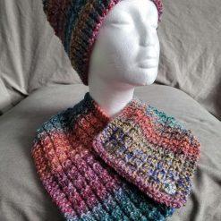 Hat / neck wrap‐ blue / purple / yellow