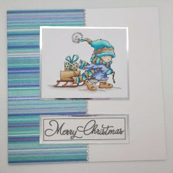 Boy with gifts - light blue stars -Personalised
