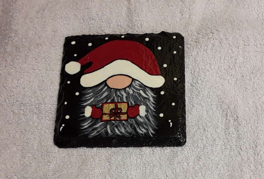 Design 2 Hand painted slate coasters x2 5