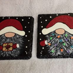 Design 2 Hand painted slate coasters x2 11