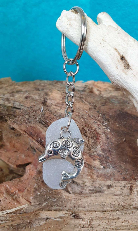 Cornish Sea Glass Key Ring #1 1