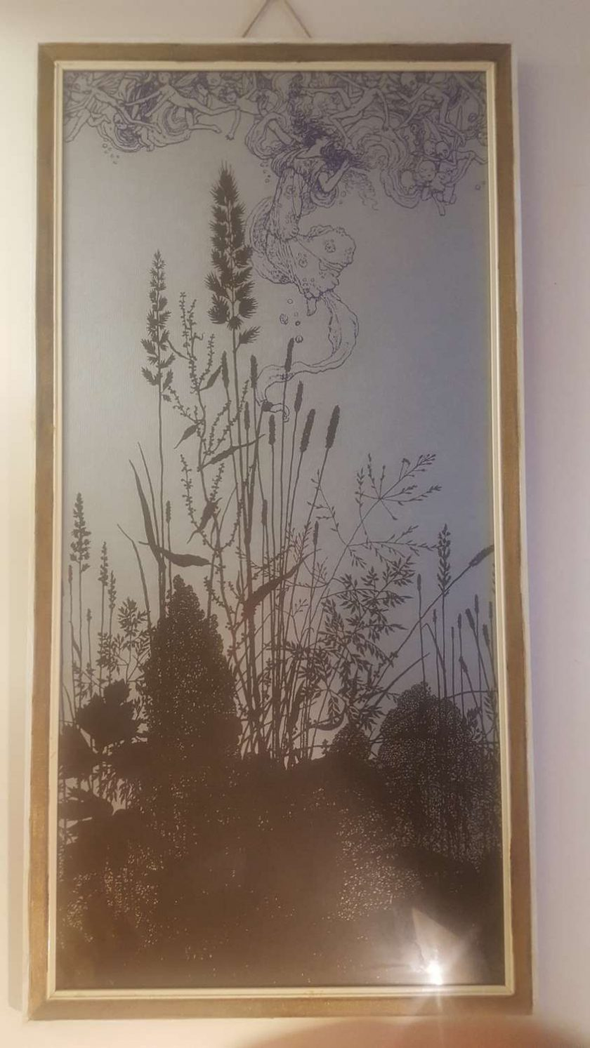Fairies at Dawn - Screen Printed, Framed Picture 1