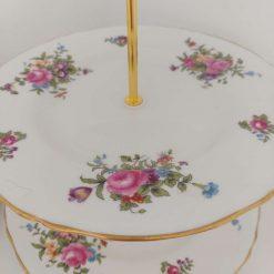 Stunning flower posy vintage cake stand 7
