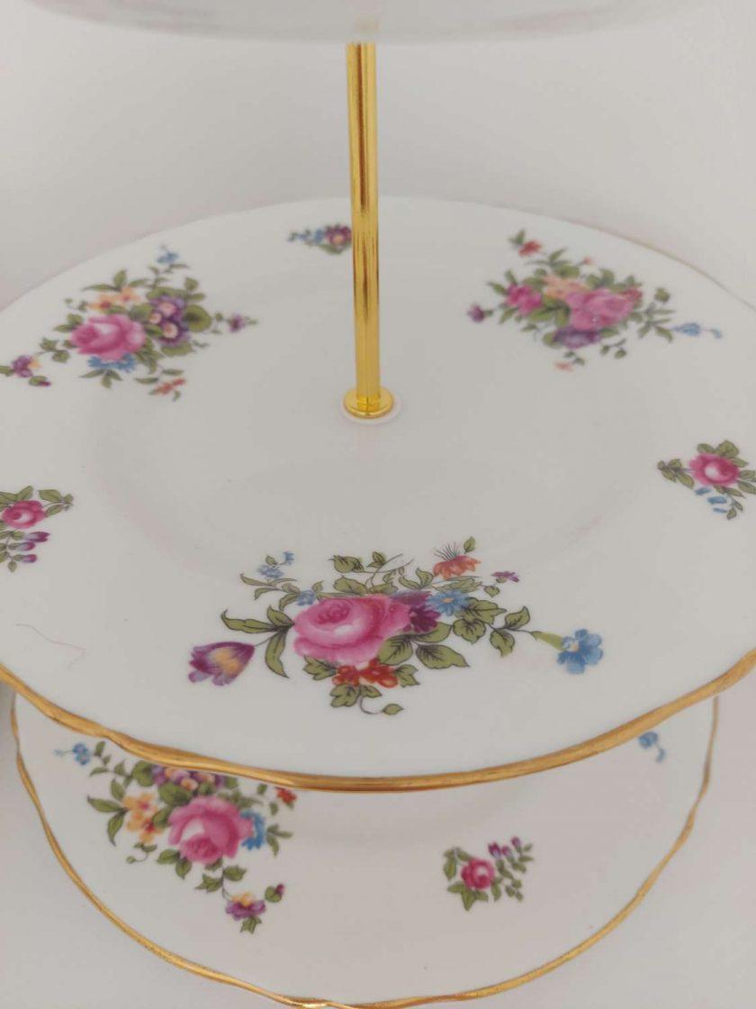 Stunning flower posy vintage cake stand 3